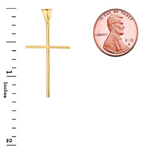 Cross Pendant Necklace in Gold (Yellow/Rose/White)
