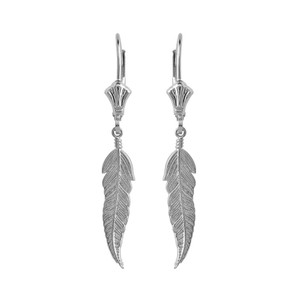 Feather Earrings in Sterling Silver