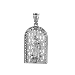 Our Miraculous Lady of Guadalupe Pendant Necklace in Sterling silver