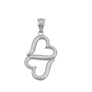 Infinity Heart pendant necklace in Gold(Yellow/Rose/White)