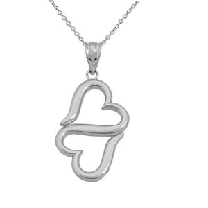 Infinity Heart Pendant necklace in Sterling Silver