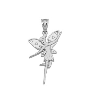 CZ Angel Fairy In Sterling Silver