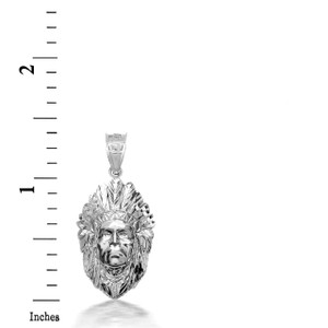 925 Sterling Silver 3D Apache Pendant Necklace