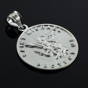 Saint Michael Silver Coin Pendant