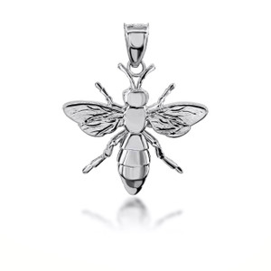Gold Bee 3D Charm Necklace (Available in Yellow/Rose/White Gold)