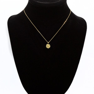 Gold Rose Flower 3D Charm Necklace (Available in Yellow/Rose/White Gold)