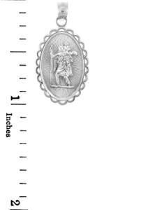 Sterling Silver Saint Christopher Charm Pendant