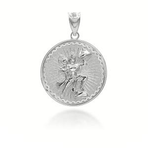 white--gold-lord-hanuman-indian-hindu-monkey-god-coin-medallion-pendant-necklace