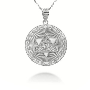 white-gold-star-of-david-all-seeing-eye-medallion-coin-pendant-necklace