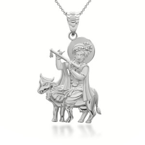 white-gold-lord-krishna-playing-flute-on-holy-cow-pendant-necklace