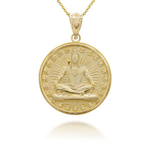 yellow-gold-lord-shiva-hindu-indian-god-of-destruction-and-meditation-coin-medallion-pendant-necklace