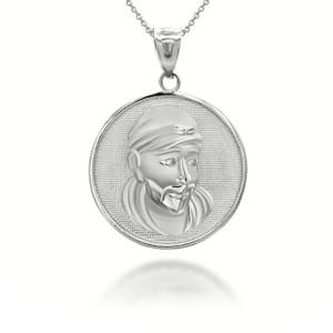 white-gold-sathya-sai-baba-indian-hindu-guru-coin-medallion-pendant-necklace