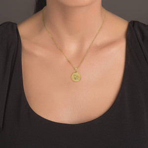 yellow-gold-sathya-sai-baba-indian-hindu-guru-coin-medallion-pendant-necklace-on-model