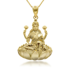 yellow-gold-lakshmi-hindu-sitting-on-lotus-throne-pendant-necklace
