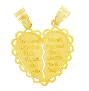 Jewish Charms and Pendants -  Gold Mizpah Jewish Pendant