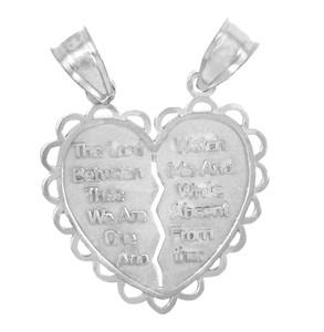Jewish Charms and Pendants -  Mizpah Jewish Sterling Silver Pendant