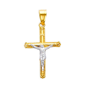 Passion of Christ 14K Two-Tone Gold