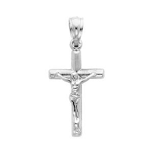 14K White Gold Glorious Crucifix