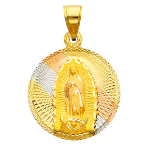 """Tri-Color """"Our Lady of Guadalupe"""" Pendant- 1.00 Inch"""