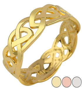 Trinity Knot Ring in Gold (Yellow/Rose/White)