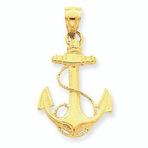 14K Gold Anchor Charm