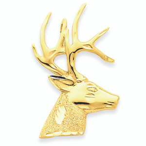 14K Gold Stag Pendant