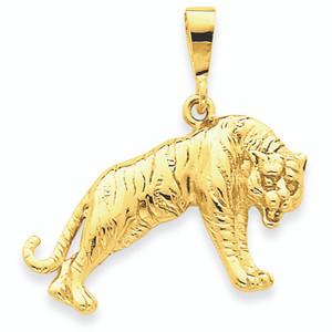 14K Gold Tiger Pendant