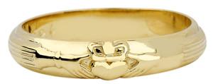 Gold Wedding Claddagh Ring