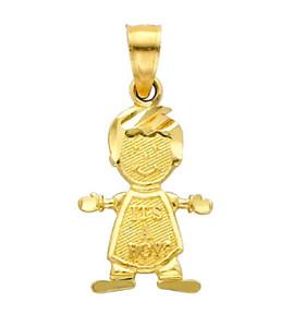 14K Gold Baby Boy Cutie Charm