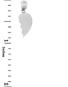 Silver Half Heart Pendant Right
