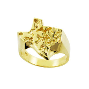 Yellow Gold Texas Nugget Ring