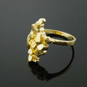 Yellow Gold Nugget Ladies Ring