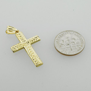 14K Gold Reversible Cross Pendant