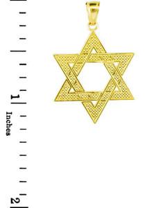 Yellow Gold High Polished Star of David Pendant