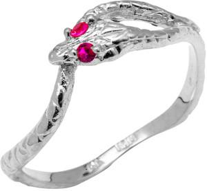 White CZ Ouroboros Ring