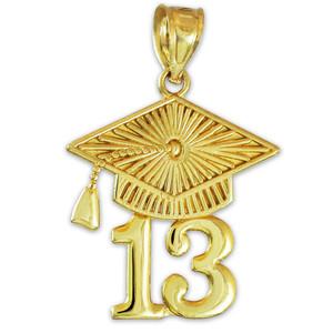 CLASS OF 2013 Graduation Gold Cap Pendant