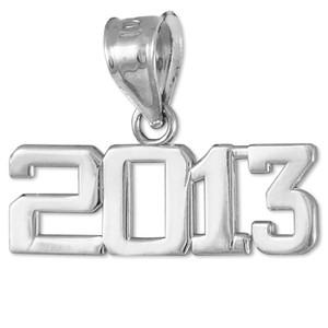Sterling Silver 2013 Class Graduation Charm Pendant