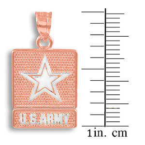 Two-tone Rose Gold US ARMY Pendant
