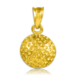 Golf Ball Gold Charm Sports Pendant Necklace