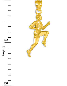 Gold Runner Pendant Necklace