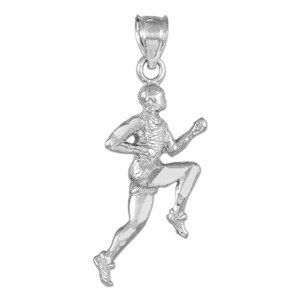 Sterling Silver Runner Pendant Necklace