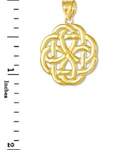 Gold Triquetra Celtic Trinity Pendant Necklace
