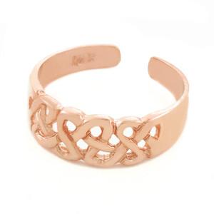 Trinity Knot Rose Gold Toe Ring