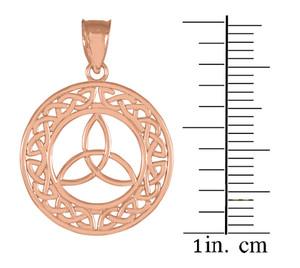 Round Rose Gold Trinity Pendant