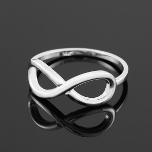 Polished Sterling Silver Infinity Ring