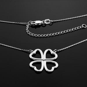 Shamrock necklace in sterling silver.