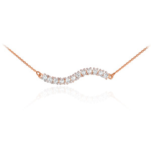 14k Rose Gold Diamond Journey Necklace