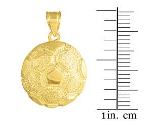 Gold Soccer Ball Sports Charm