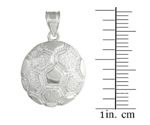 Silver Soccer Ball Sports Charm Pendant