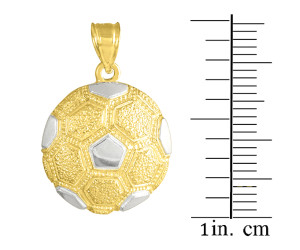 Two Tone Gold Soccer Ball Sports Charm